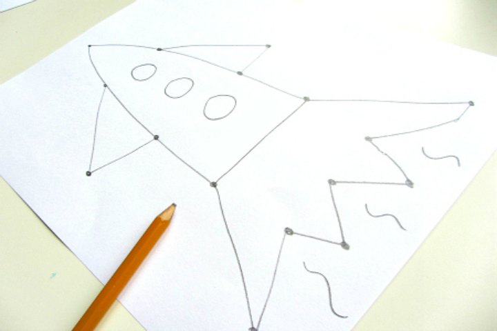 Your Child Can Draw Figures Using Dots