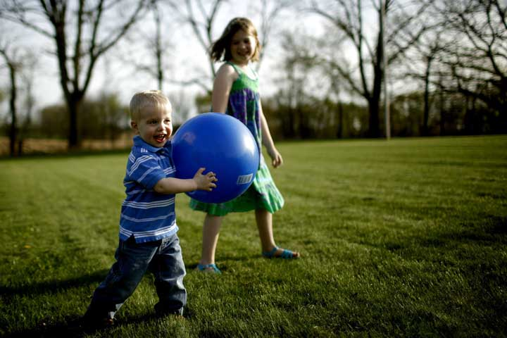 Your Child Can Throw A Large Ball In The Intended Direction