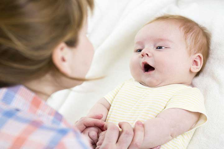 Your Child Is Able To Coo-Babble A Lot When Spoken To