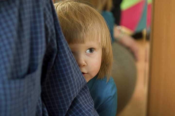 Your Child Now Will Often Cling To You In Unfamiliar Situations