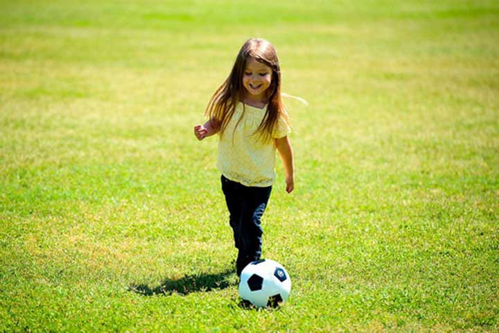 Your Little Angel Is Able To Kick A Ball Forward For A Short Distance Without Assistance