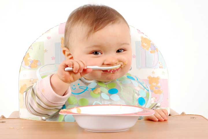 Your Little Darling Is Now Able To Hold A Spoon