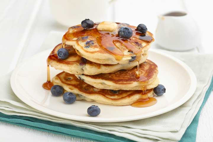 Yummy Banana Blueberry Pancake