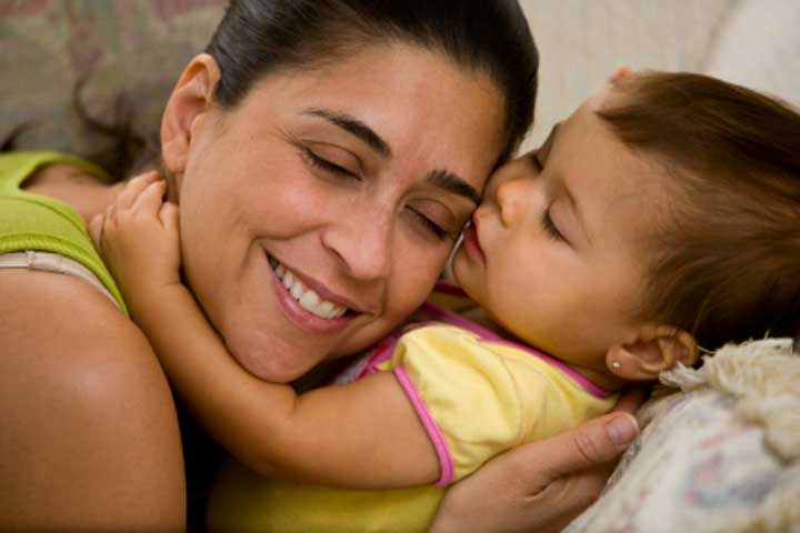 Your Little Darling Is Now Able To Express Affection To Close Family Members