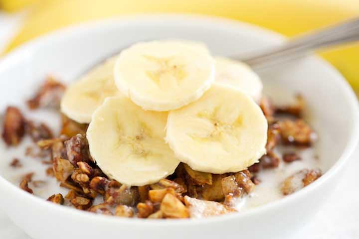 Banana with Wheat and Apple Cereal