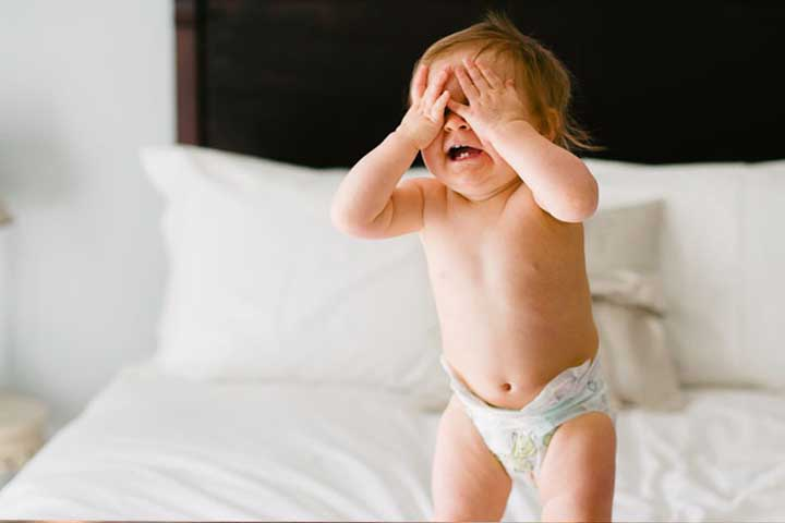 Your Baby Plays Peek-a-boo With You With Some Antics