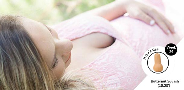 Comfortable sleeping positions in the third trimester of pregnancy